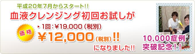 血液クレンジング 10000症例 突破記念!初回お試し価格改定!