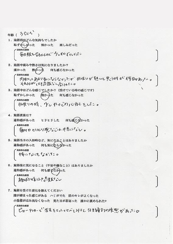サーミバー(THERMI Va) アンケート08