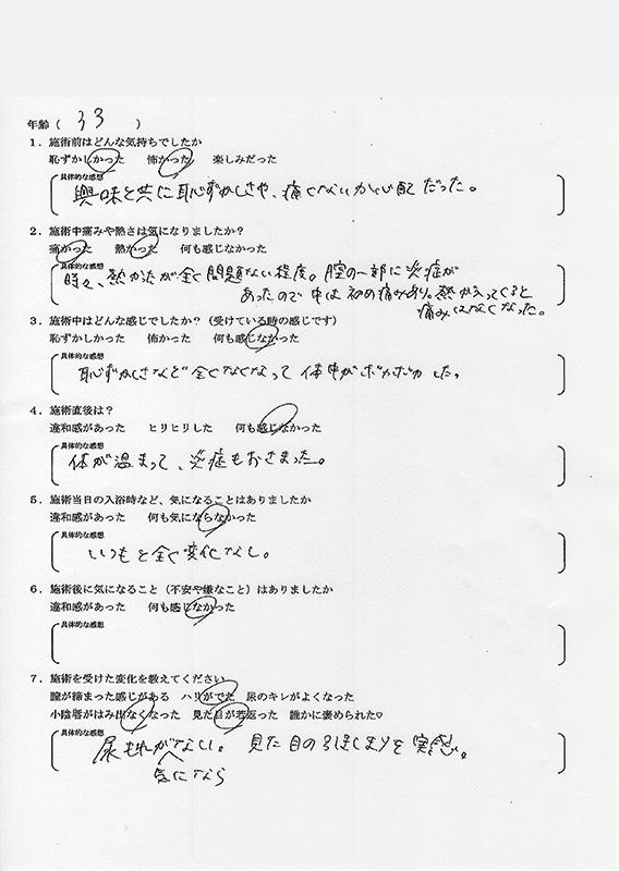 サーミバー(THERMI Va) アンケート10